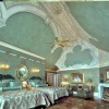Metallic glaze ceilings with painted trompe l'oeil stonework